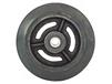 "MAXUM Moldon Rubber 4"" x 2"" WHEEL ONLY W/ROLLER BEARING"