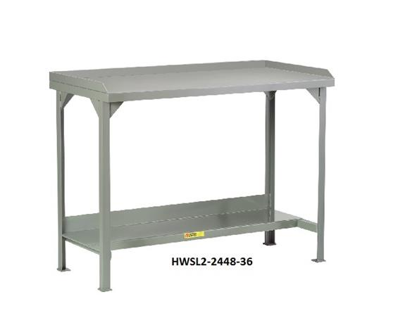 ALL-WELDED STEEL WORKBENCHES WITH BACK & END STOPS