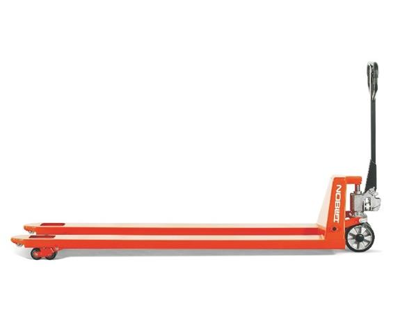 EXTRA-LONG FORK PALLET TRUCKS