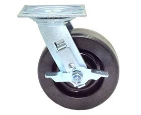 "MAXUM Phenolic 6"" X 1. 50"" Swivel Caster W/Brake"