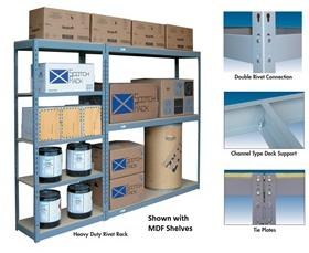 HEAVY DUTY RIVET RACK WITH 3 SHELVES