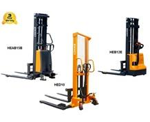 FULL, SEMI-ELECTRIC & MANUAL STRADDLE STACKERS